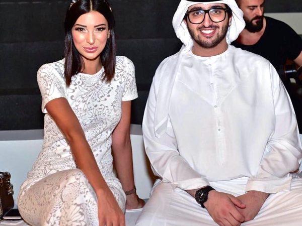Shereen Mitwalli wearing MILTON-FIRENZE headband during Dubai Fashion Week 2016