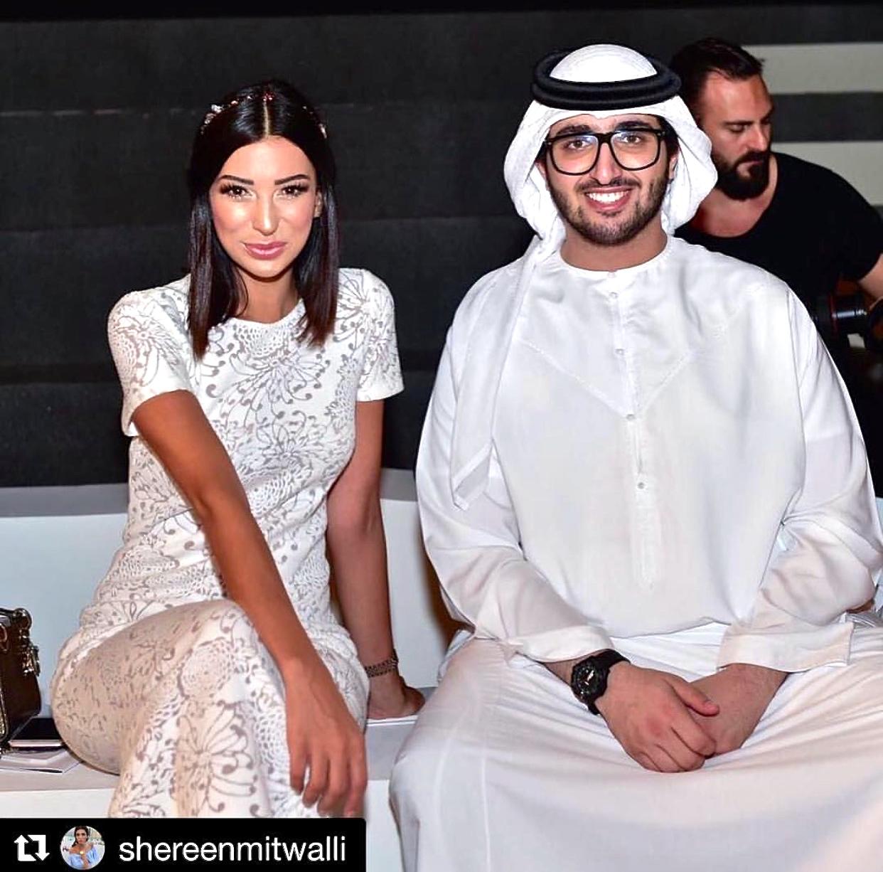 Shereen Mitwalli wearing MILTON-FIRENZE Jewelry Headband Dubai Fashion Week