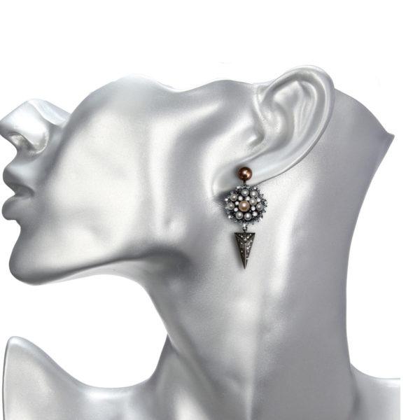 MILTON-FIRENZE Fine Jewelry Earrings Orecchini Argento
